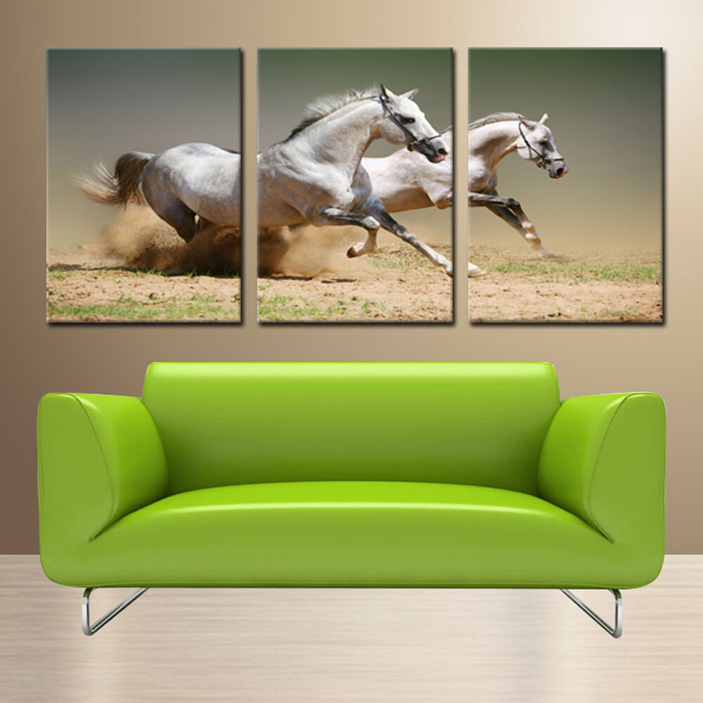 Wall Art Canvas Ready To Hang : Horse ready to hang panel wall art print mounted on mdf