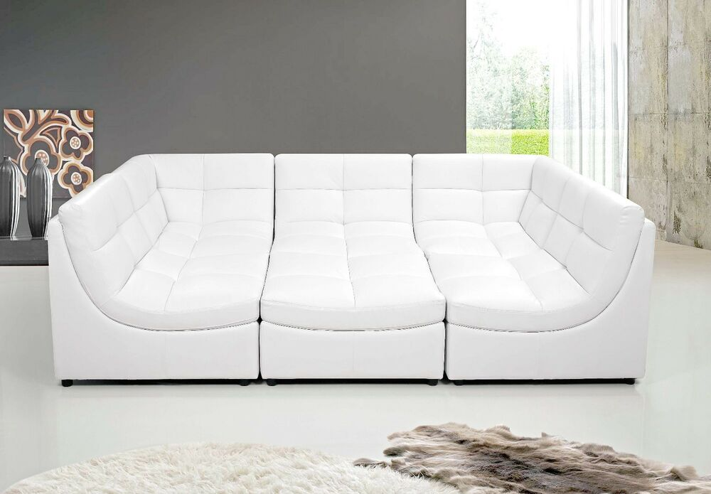 9148 6 Pcs Cloud Modular Sectional W Ottoman 4 Colors
