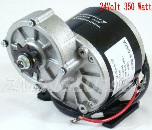 24volt 350 watt dc electric motor f bicycle bike scooter my1016z3 gear reduction ebay. Black Bedroom Furniture Sets. Home Design Ideas