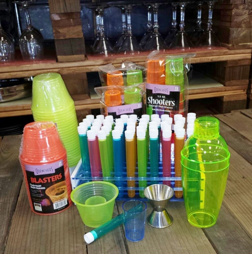 Shooter Party Pack With Test Tube Shot Glasses Party