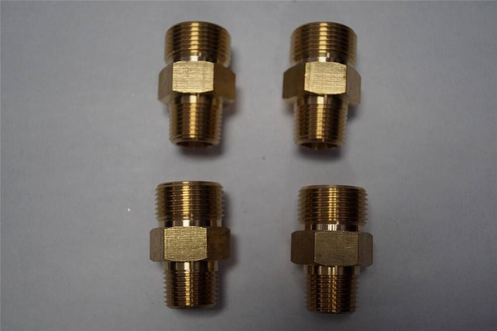 Brass m screw type mnpt pressure washer fittings