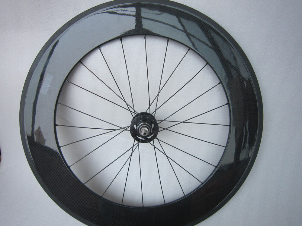 Carbon track clincher bike wheel 88mm only rear wheel for Bicycle rims