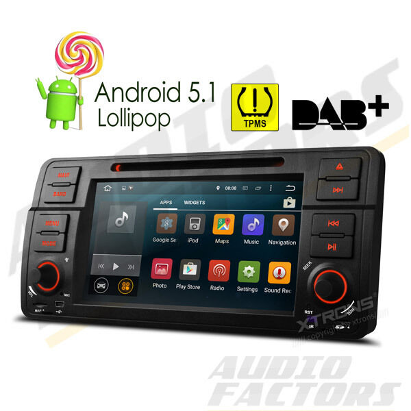 android 5 1 head unit car dvd player stereo gps obd2 bmw 3. Black Bedroom Furniture Sets. Home Design Ideas