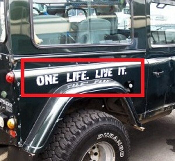 Decal ONE LIFE LIVE IT For DEFENDER LAND ROVER Grill
