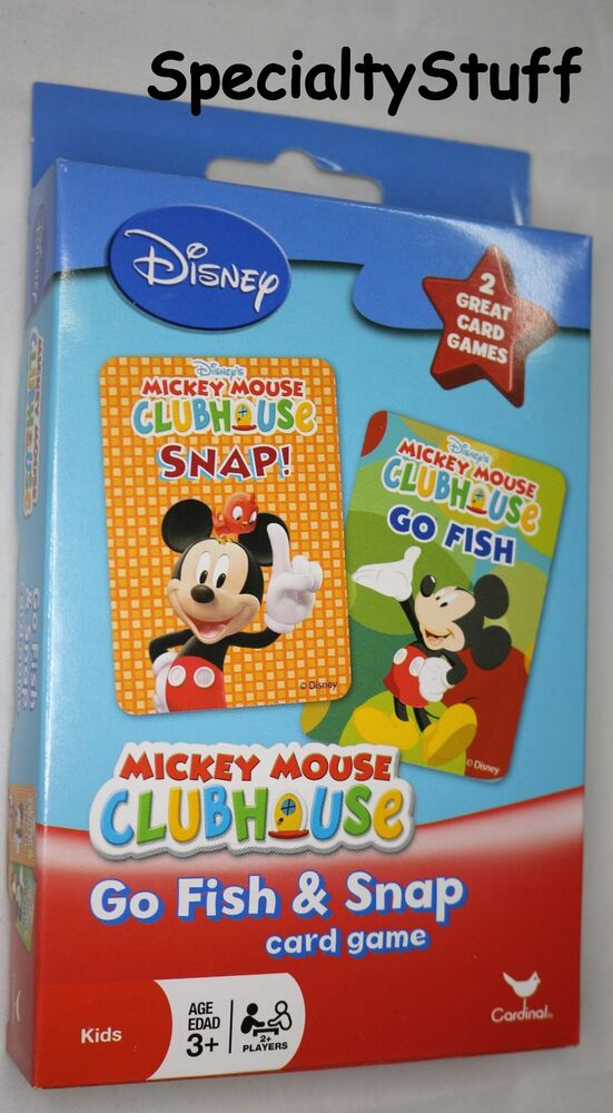 New mickey mouse playing cards go fish snap 2 sets of for Play go fish