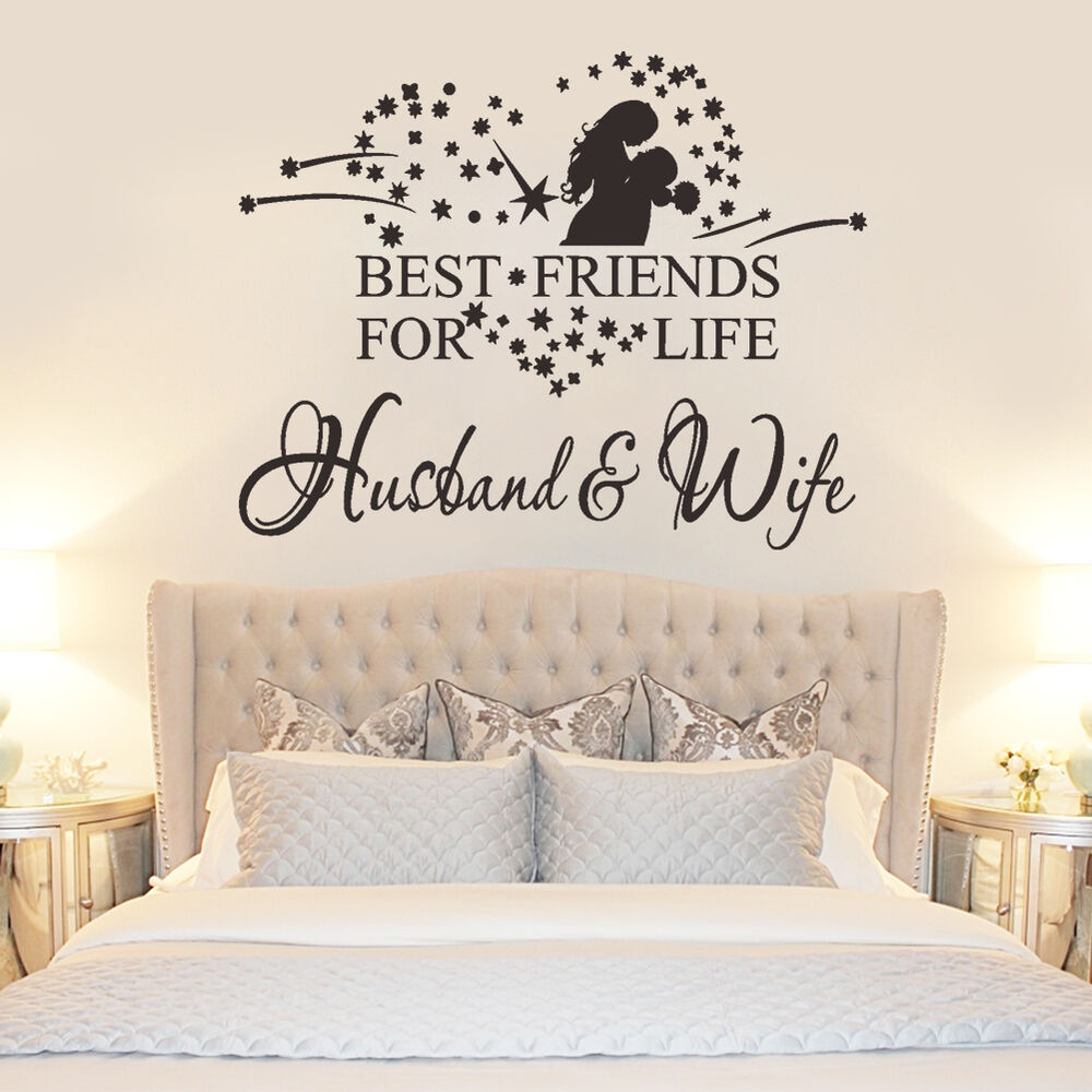 Best friend for life husband wife vinyl wall sticker for Home decor bedroom
