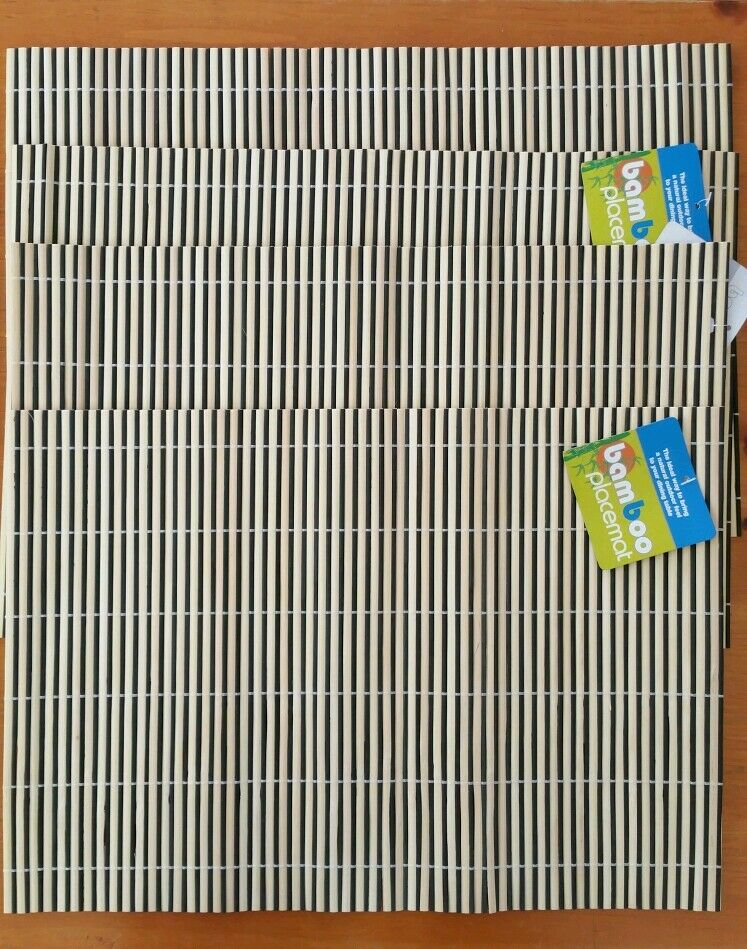 Set Of 4 Bamboo Placemats Kitchen Dining Room Home Decor  : s l1000 from www.ebay.com size 747 x 949 jpeg 155kB