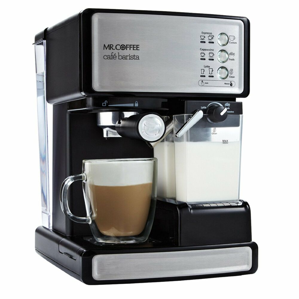 mr coffee cafe barista espresso maker with automatic milk frother 72179232117 ebay. Black Bedroom Furniture Sets. Home Design Ideas