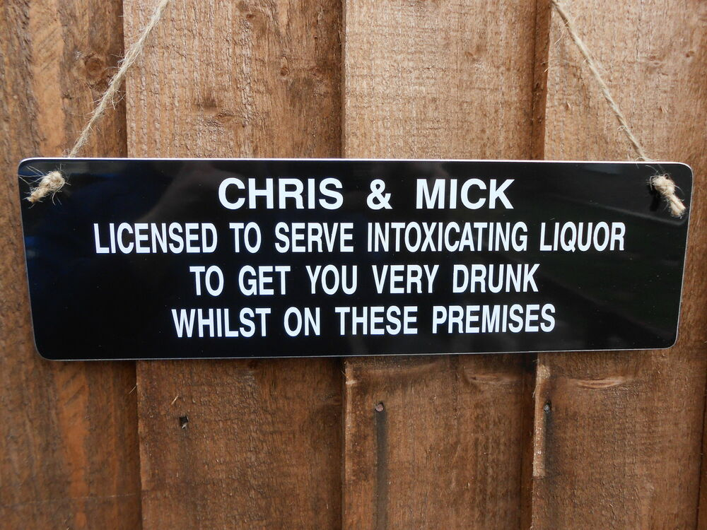 Hanging Garden Party Pub Home Bar Dad Gift Licensee Sign