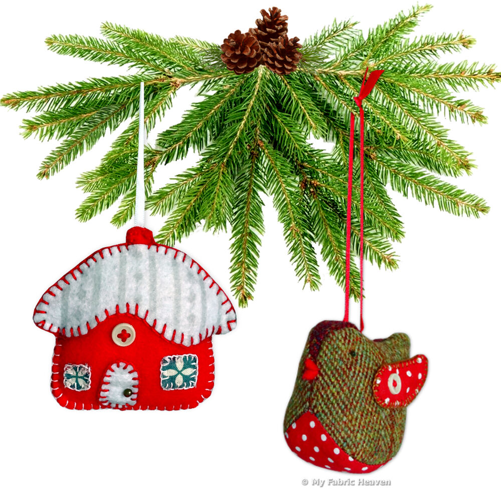 2 X Christmas Decorations Ornaments Sewing PATTERNS Robin