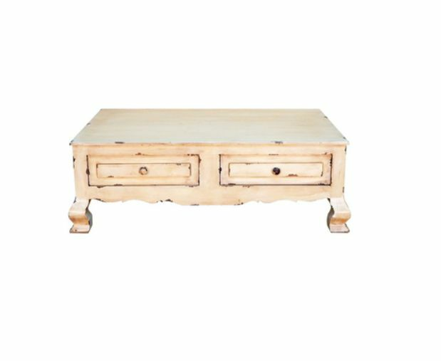 Rustic Heirloom Coffee Table Western Shabby Chic White