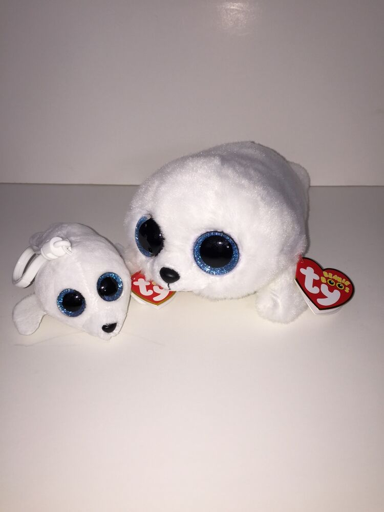 Ty Icy Seal Set Of 2 Beanie Amp Key Clip Beanie Boos New