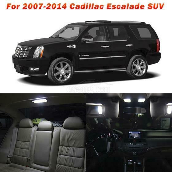 Buy Used Cadillac Escalade: 12pcs White SMD LED Lights Interior Package Kit For 2007-2014 Cadillac Escalade