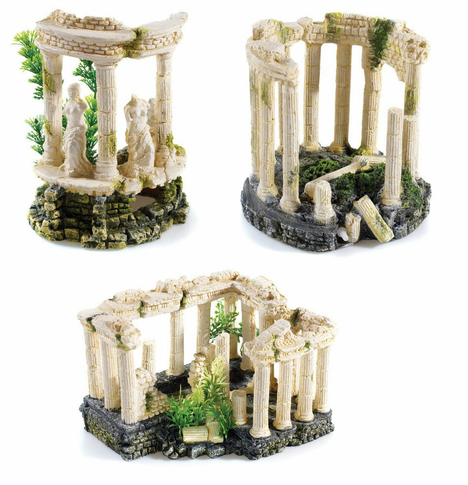 Greek roman themed ancient ruins aquarium ornament fish for Aquarium decoration ornaments
