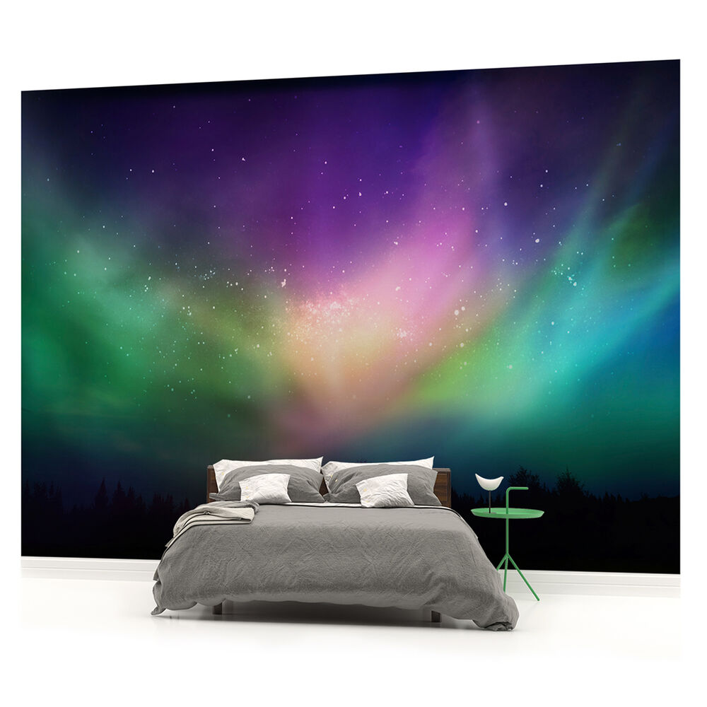 Wall mural photo wallpaper picture w1161pp northern for Mural lighting