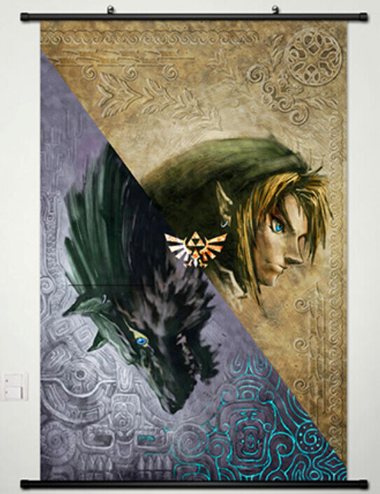 The legend of zelda home decor anime japanese poster wall for Decoration zelda