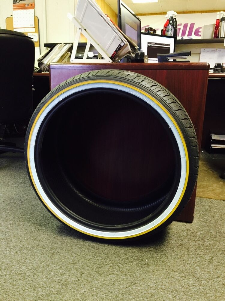 New Just Released 265 35r22 Vogue Tires Gold Amp White Custom