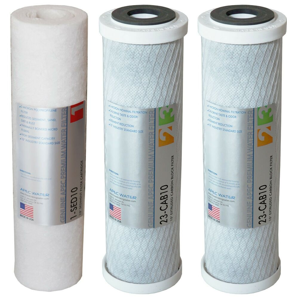 Apec Us Made Stage 1 2 Amp 3 Replacement Water Filter For Ro