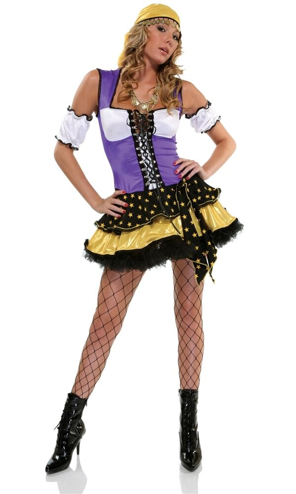 Good Fortune Gypsy Sexy Adult Womens Costume Unique Womens -2620