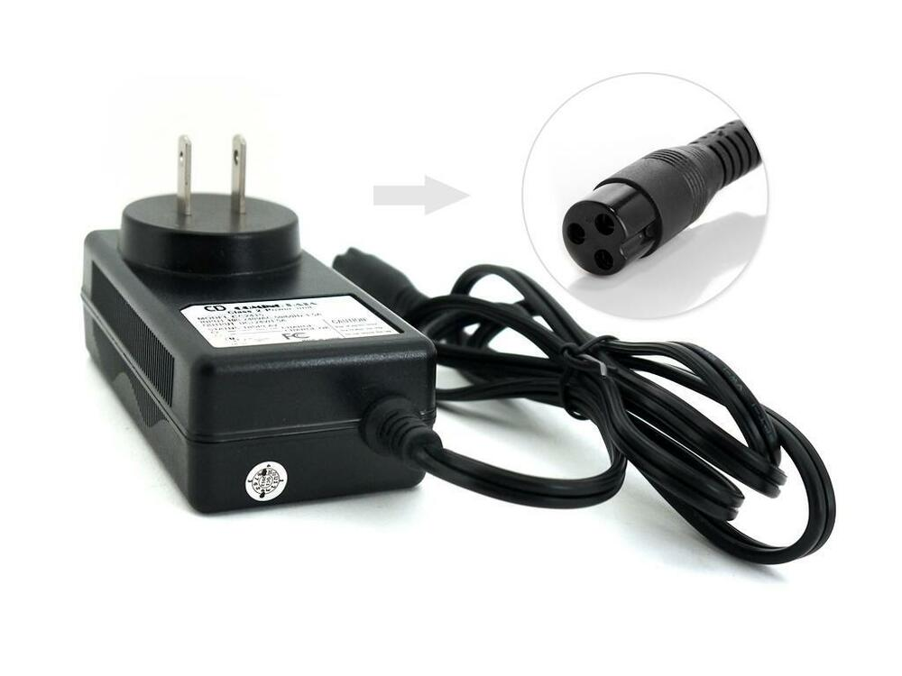 scooter battery wall charger 36w 3 hole inline for razor dirt quad electric atv ebay. Black Bedroom Furniture Sets. Home Design Ideas