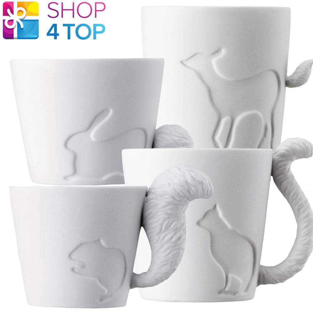 Animal Tail Shaped Handle Mug Cup Coffee Tea Candlestick