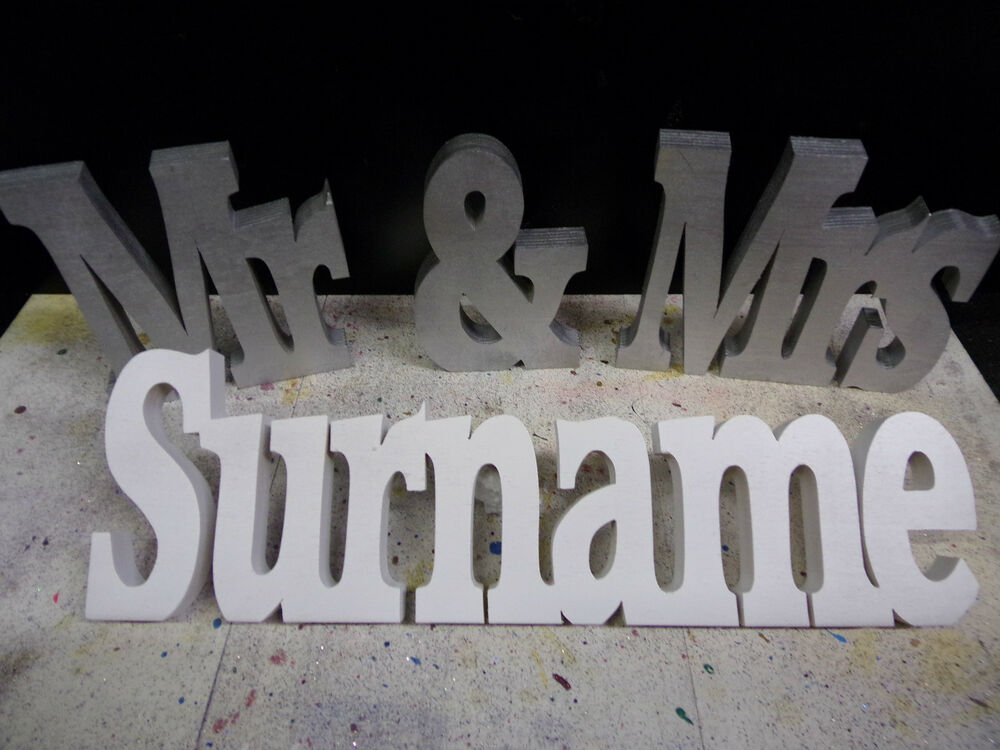 Wedding Gift Personalised Mr & Mrs + Surname Table