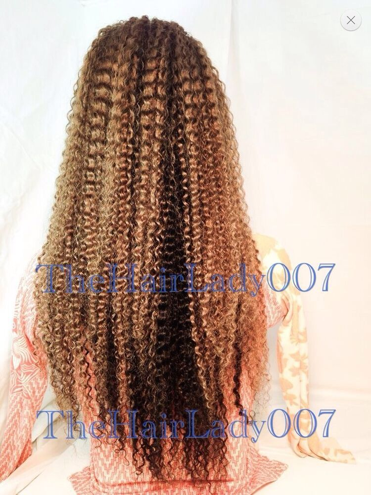 22 Quot Kinky Curly Wavy 1b 30 24 Two Tone Full Lace