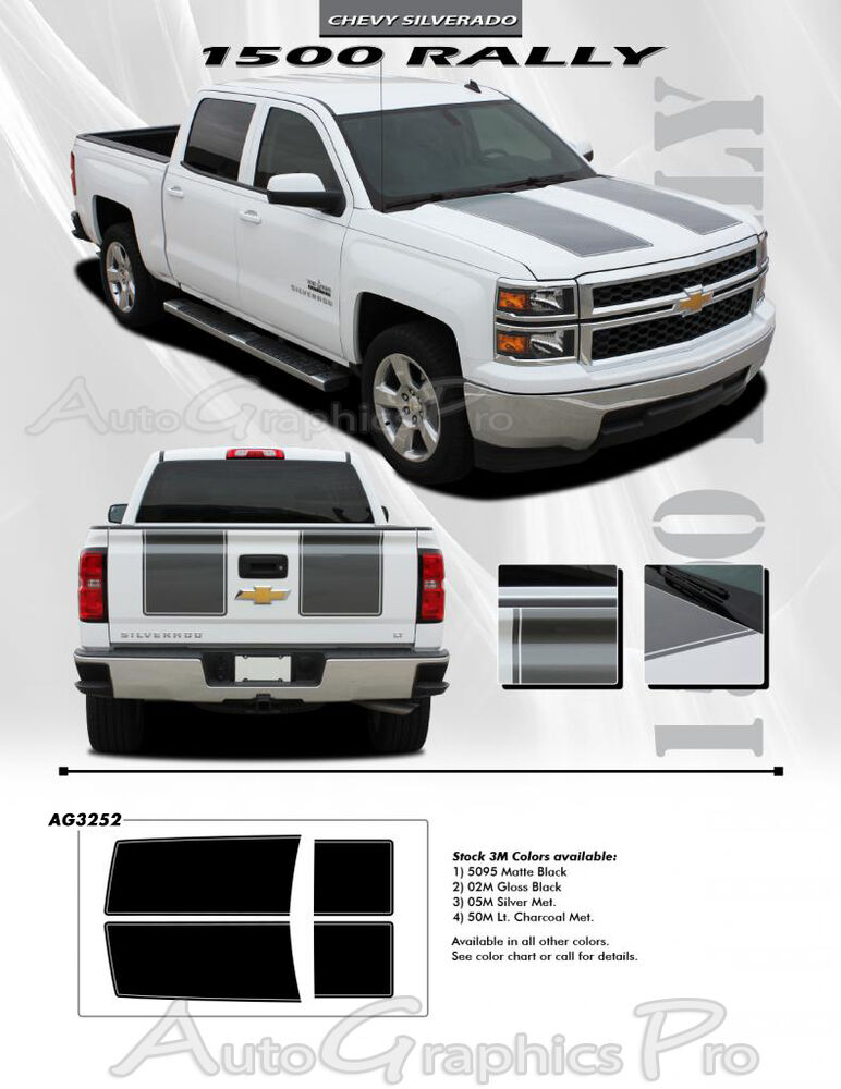 For Chevy Silverado Rally 1500 Graphics Kit Decals Trim