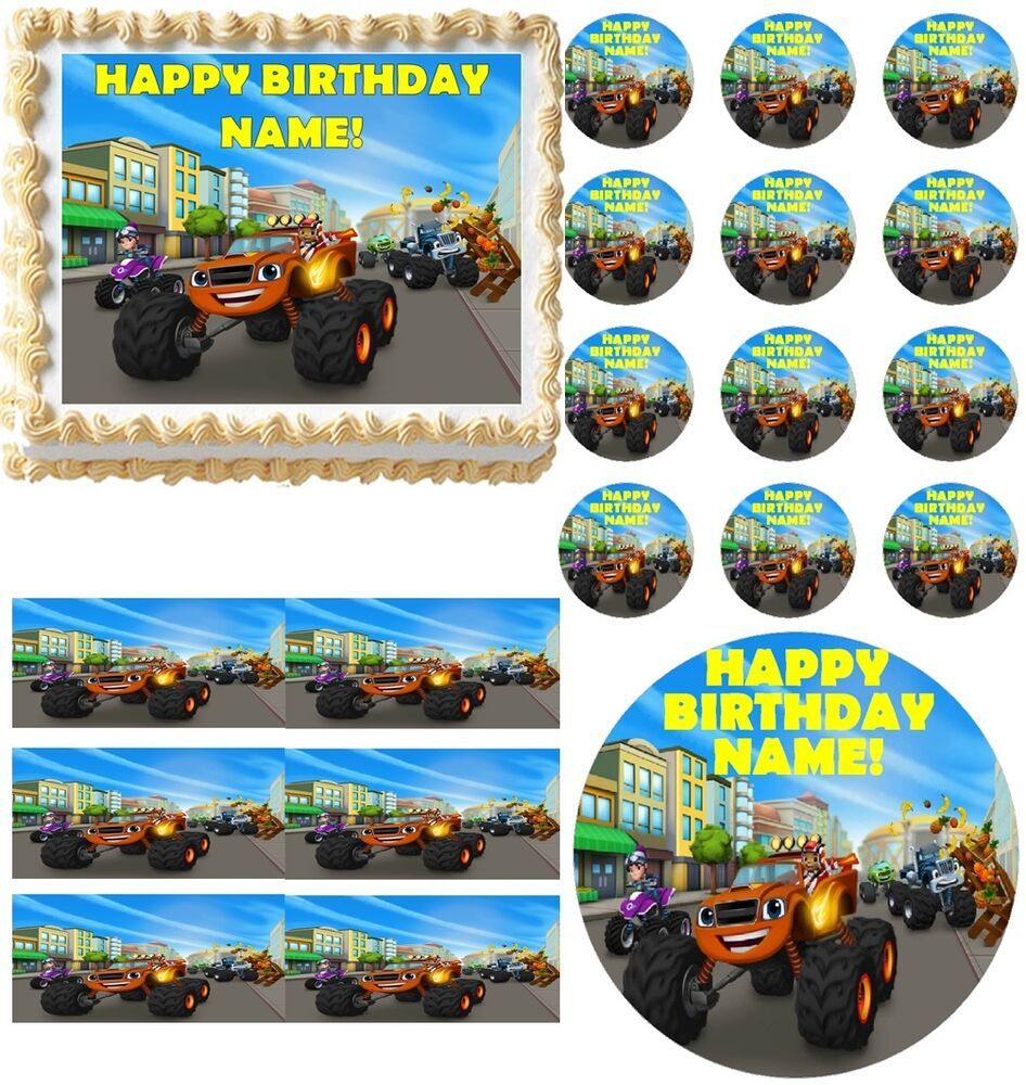 Blaze and the Monster Machines Party Edible Cake Topper ...