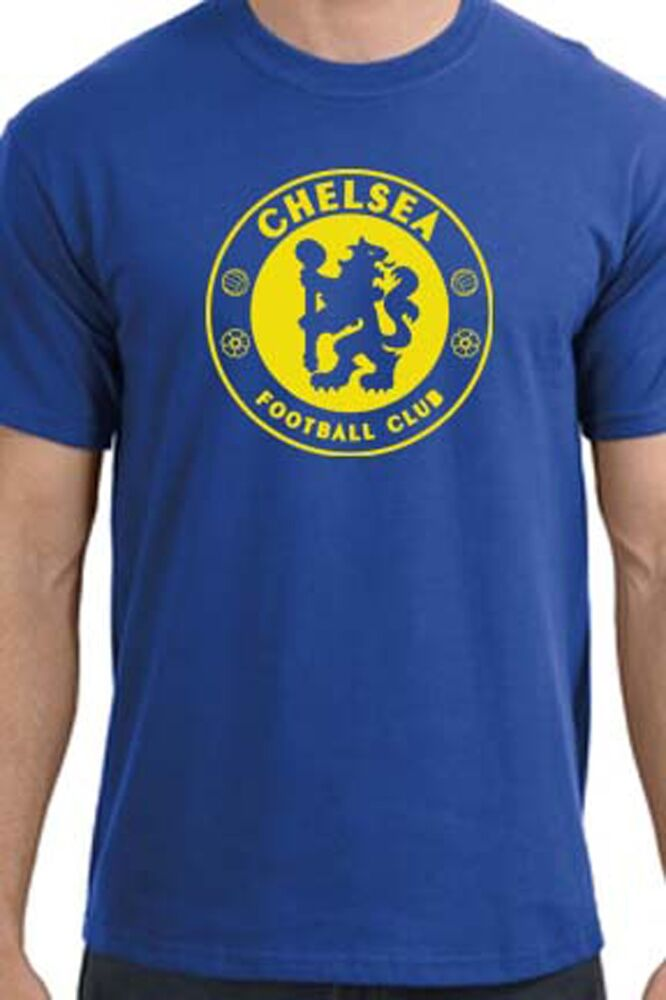 chelsea fc royal blue soccer t shirt custom ebay. Black Bedroom Furniture Sets. Home Design Ideas