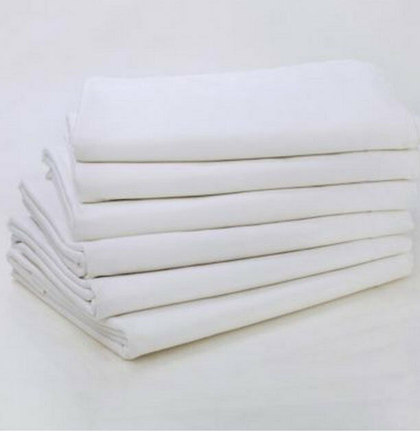 12 full xl size 81x115 flat motel resort bed sheet t 250 white hotel linen sheet ebay. Black Bedroom Furniture Sets. Home Design Ideas