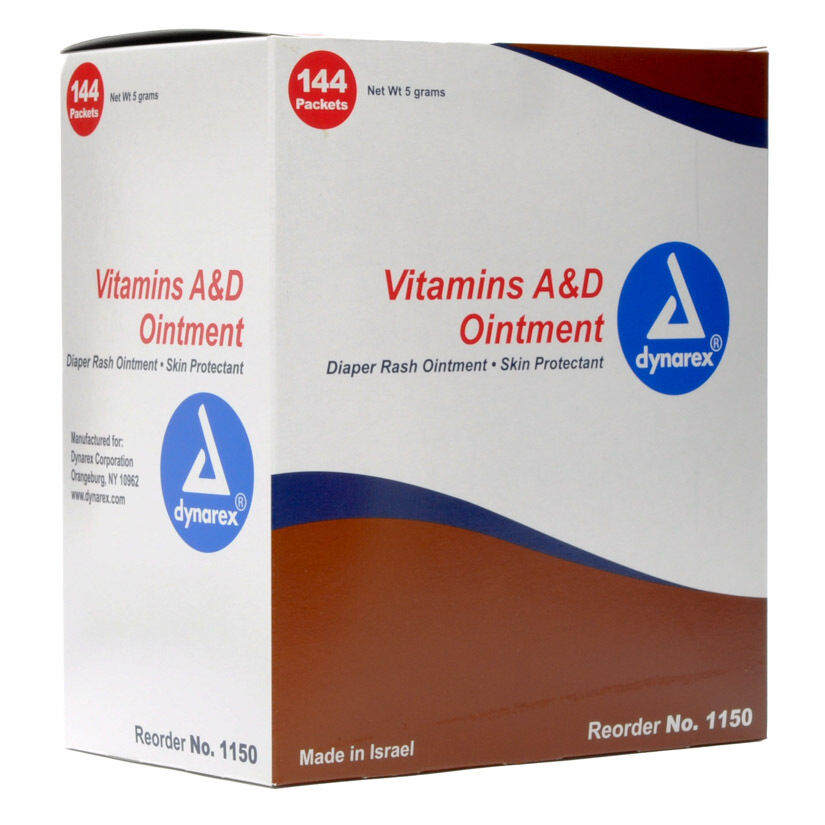 Dynarex vitamin a d ointment 5g foil pack diaper rash for Is a d ointment good for new tattoos