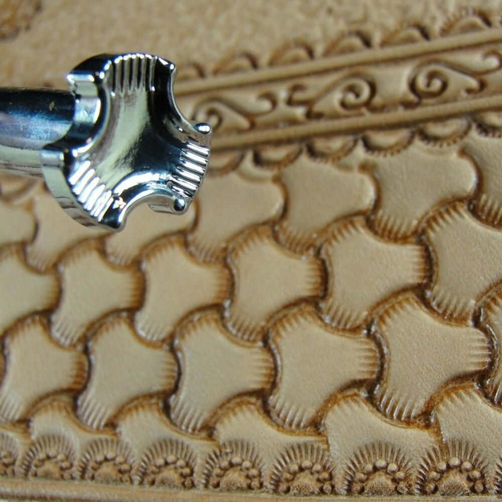 Leather stamping tool s large tri weave stamp ebay