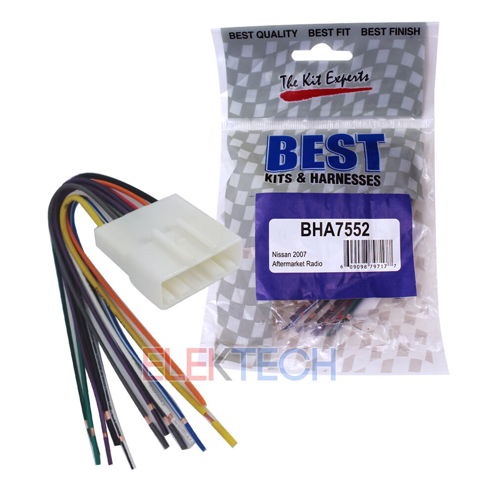 s l1000 bha7552 aftermarket radio replacement wire harness for nissan Wire Harness Assembly at bakdesigns.co
