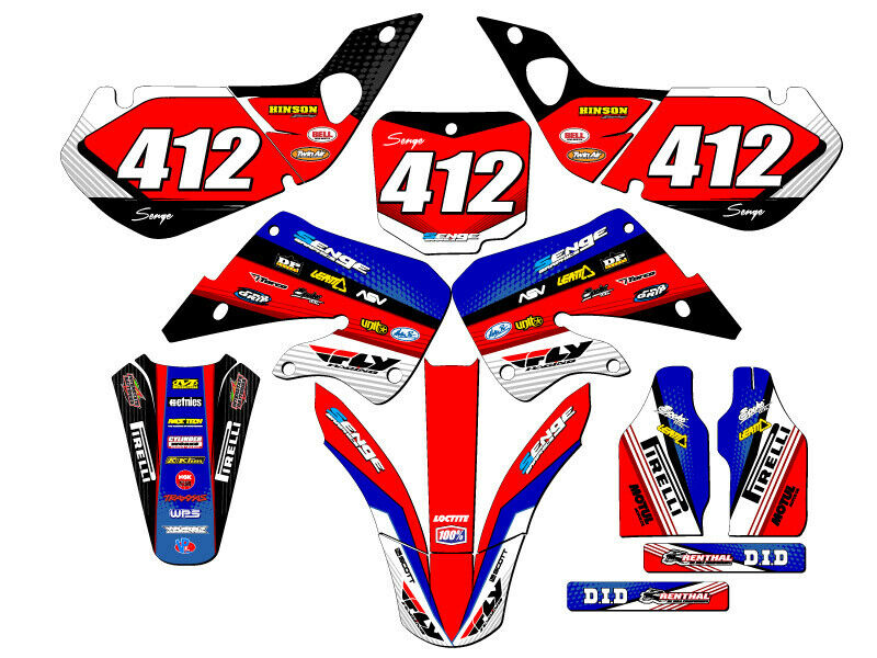 1998 1999 cr 125 graphics kit cr125 cr125r 125r r deco