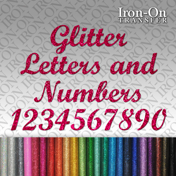 glitter iron on letters glitter letters amp numbers iron on hotfix fabric t shirt 21955