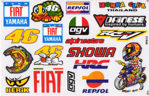 MOTO 46 the doctor new style stickers  motorcycle decals custom graphics x 2