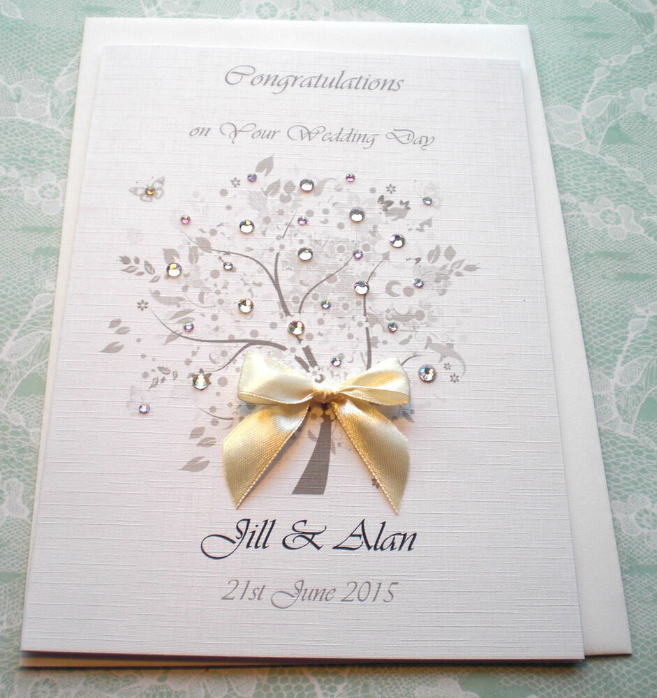 Large Golden 50th Wedding Anniversary Card Handmade Personalised Any Names