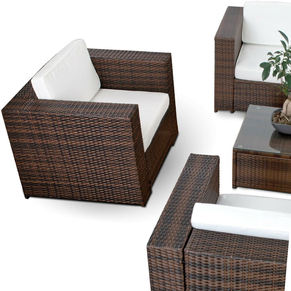 xxl gartenm bel polyrattan lounge sessel lounge stuhl garten sofa garten sessel ebay. Black Bedroom Furniture Sets. Home Design Ideas