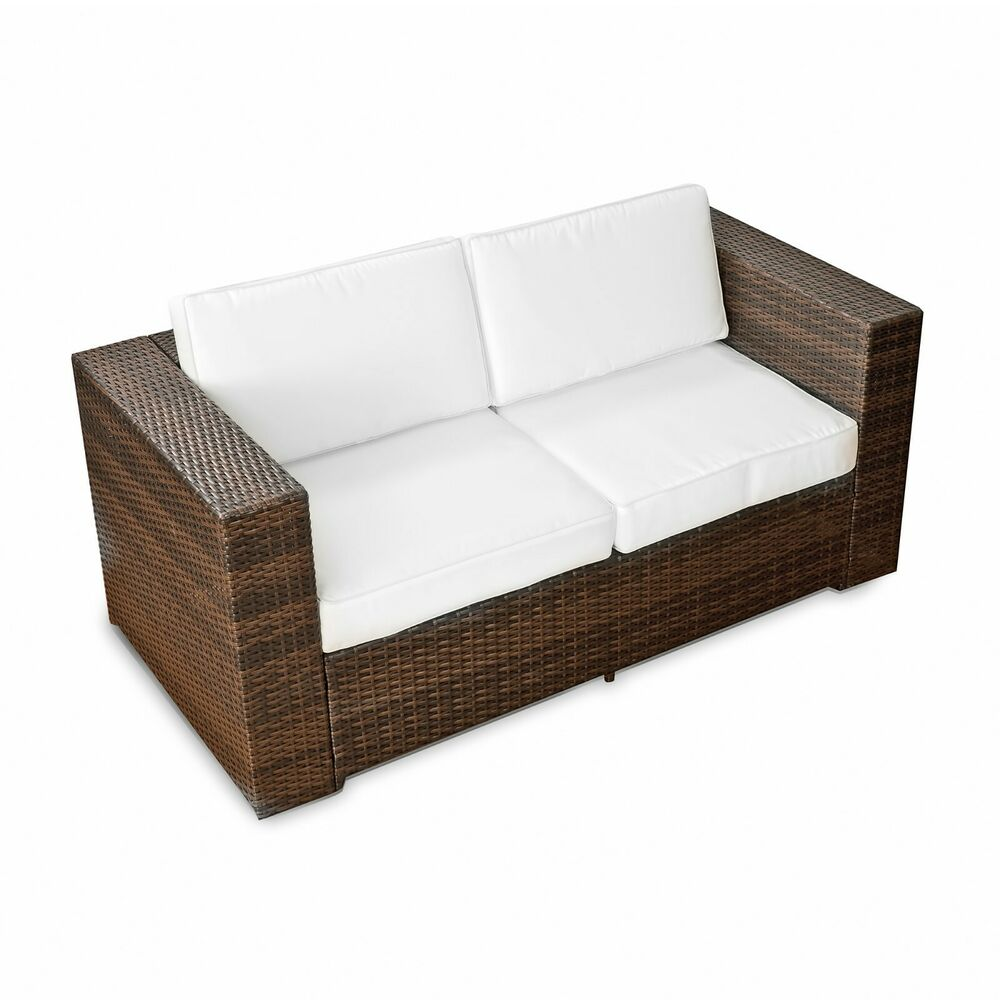 xxxl gartenm bel polyrattan lounge m bel sofa couch bank 2er sessel garten sofa ebay. Black Bedroom Furniture Sets. Home Design Ideas