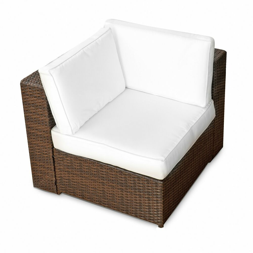 xxl polyrattan gartenm bel lounge eckteil sessel element garten ecke stuhl sitz ebay. Black Bedroom Furniture Sets. Home Design Ideas