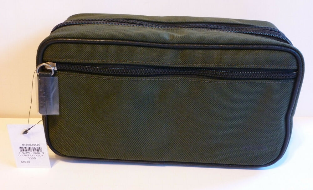 New Men S Fossil Double Zip Travel Shave Kit Toiletry Bag