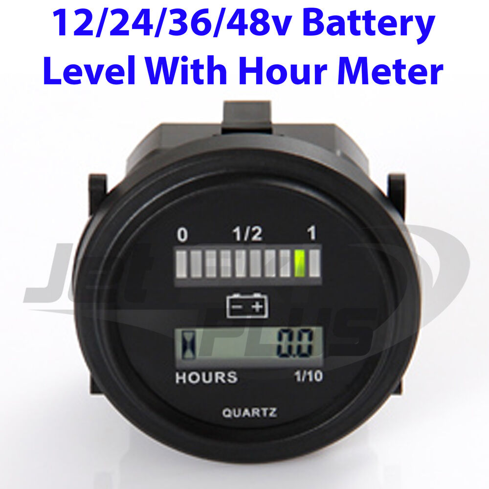 Battery 24 Volt Hour Meter : New battery level indicator hour meter dash mountable