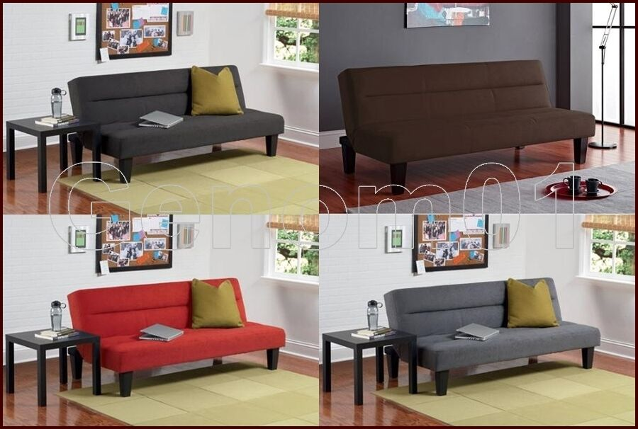futon sofa guest sleeper bed microfiber couch kids room