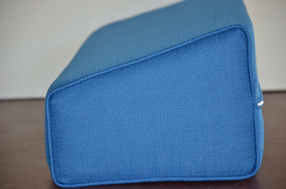 daybed wedge bolster cover onlylinen pacific blue With bolster cushions for daybeds