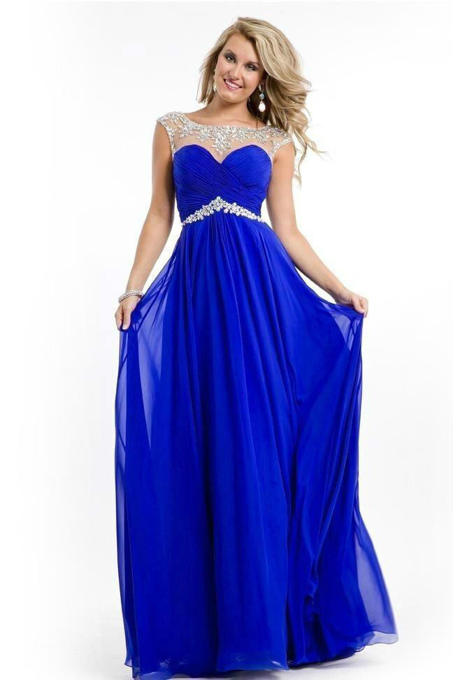 2014 Royal Blue Applique Evening Formal Prom Party ...