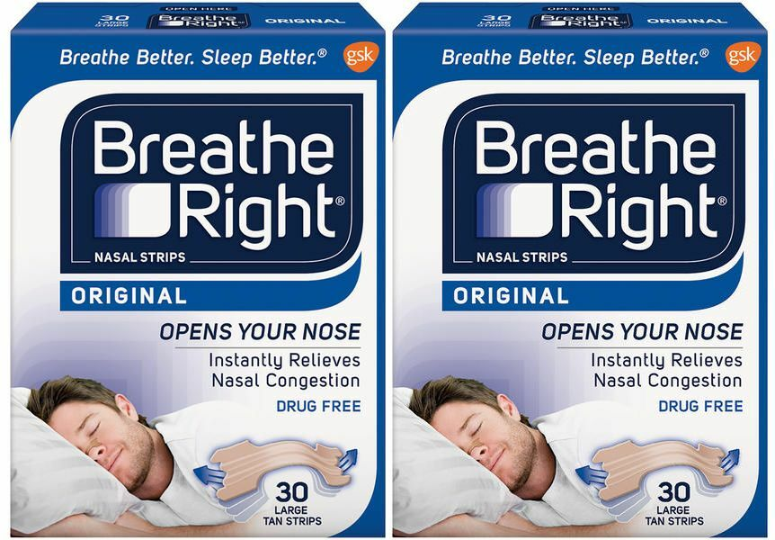 History of breathe right nasal strips