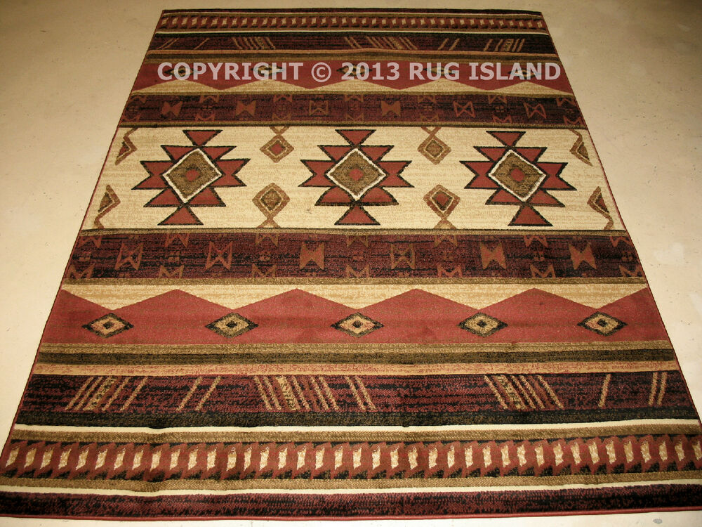 8x11 7 39 10 x 10 39 6 southwestern western lodge cabin rustic decor area rug ebay. Black Bedroom Furniture Sets. Home Design Ideas