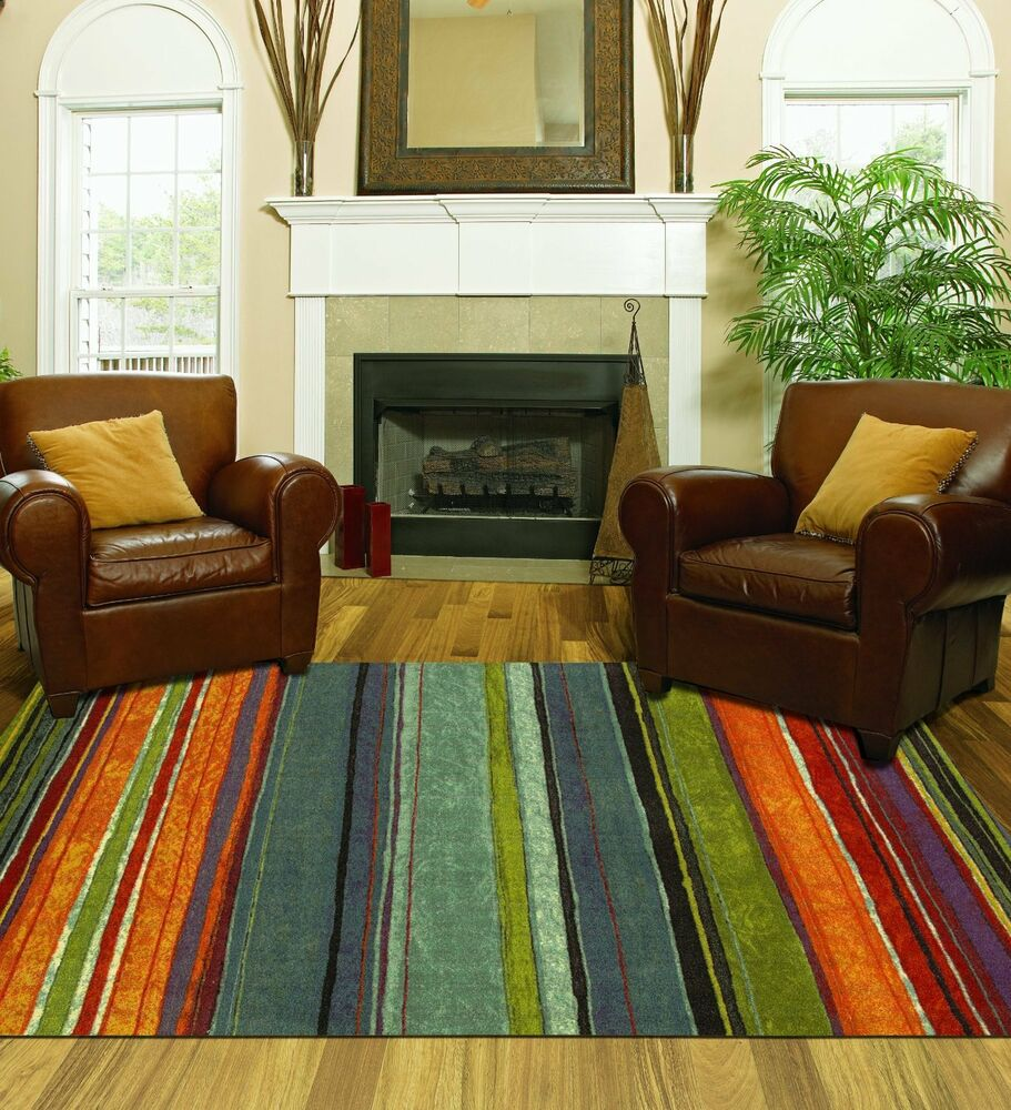 Large area rug colorful 8x10 living room size carpet home for Large kitchen area rugs