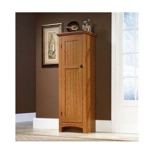 Tall kitchen cabinet storage unit organizer food pantry for Tall kitchen drawer unit